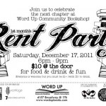 Rent Party @ Word Up Books This Saturday
