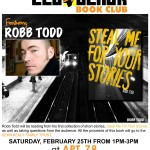 Save the Date: The Led Black Book Club ft Robb Todd on February 25th @ Apt 78