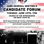 Candidate Forum @ the Church of the Intercession Tonight