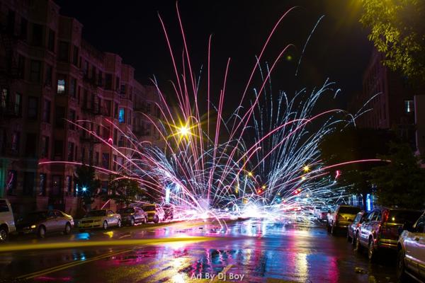 Fireworks July 4th Washington Heights