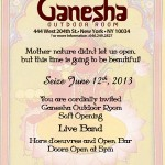 Uptown Tonight: Soft Opening of the Ganesha Outdoor Room