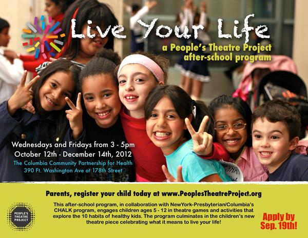 Live Your Life Recruitment Flyer