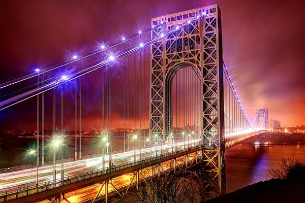 George Washington Bridge Aglow