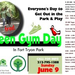 Green Gym Day @ Fort Tryon Park On Sunday, June 9th