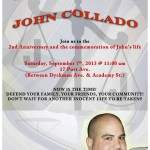 2nd Anniversary Vigil to Remember John Collado Goes Down Tomorrow