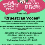 10/30/13: The CCCD Presents Nuestras Voces