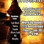 1/30/14: Hydrant Release Event @ Word Up Books