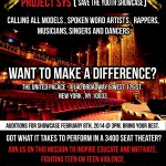 2/8/14: Auditions For 2nd Annual Save Our Youth Showcase