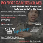 3/4/14: So You Can Hear Me @ Apt 78