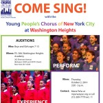 10/2/14: Auditions For The Young People's Chorus of New York City at Washington Heights