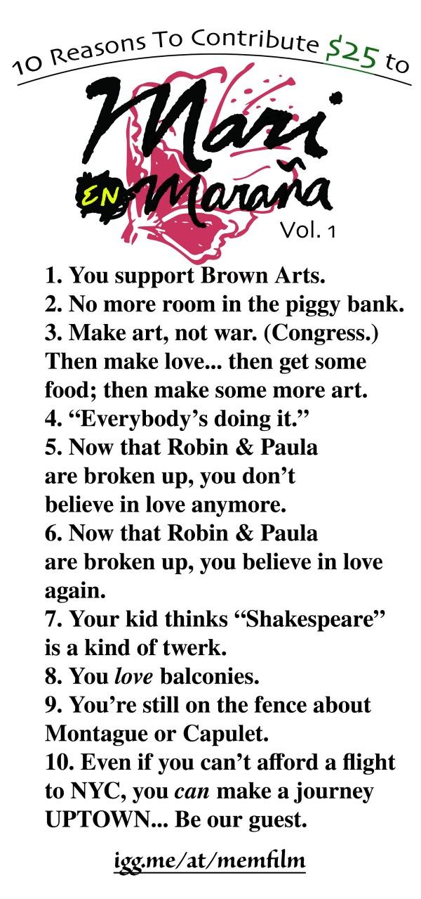 10 Reasons - Mari En Marana