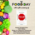 10/24/14: Celebrate Food Day @ Word Up Books