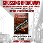 11/23/14: Crossing Broadway Book Bash @ Coogan's