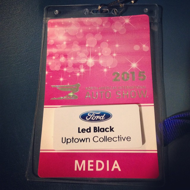 North American International Auto Show - Badge - Led Black - Uptown Collective