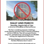 08/06/16: Save Our Neighborhood Rally & March